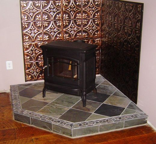 wood stove floor heat shield 1