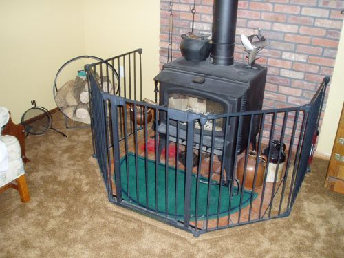 Wood Stove With Carpet.jpg - Baby-proofing Your Wood Stove Hearth.com Forums Home