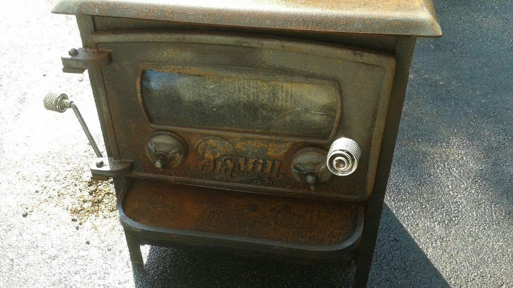 I just acquired this old mill stove from a friend of mine. He told me its a  wood/coal stove. I can see that it could burn wood but not sure with ... - Old Mill Stove Hearth.com Forums Home