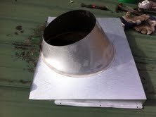 Stove Pipe Flashing On Corrugated Metal Roof Hearth Com
