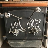 fisher 2 door stove
