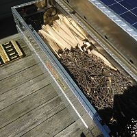 Truck box used for kindling