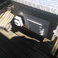Kindling box vent and solar disconnect