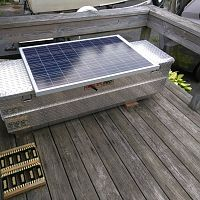 Solar ventilated kindling box