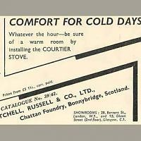 Courtier Stove Old advert