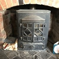 Courtier No 5 Stove Doors closed