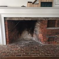 Living room hearth