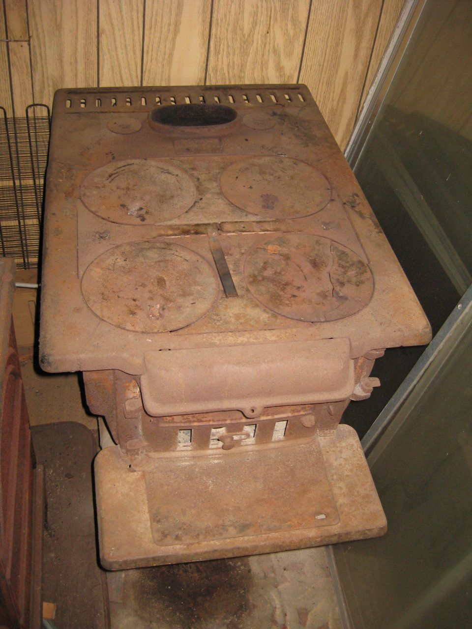 Before New Old Cook Stove Coal Hearth Com Forums Home
