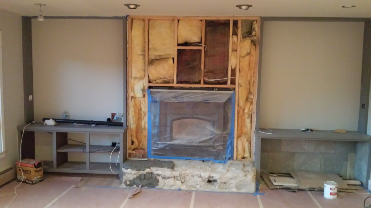 Fireplace With Insulation Behind The Framing Hearth Com