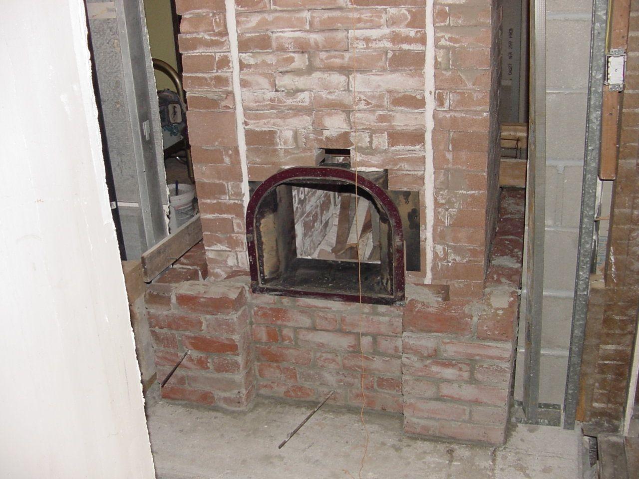 Inside core build w. refractory brick. Door was salvaged ...